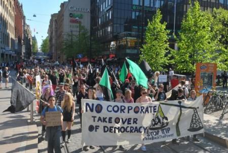 TTIP-sopimusta vastustava marssi 23.52014 Helsingissä. Kuva: Santeri Laurila
